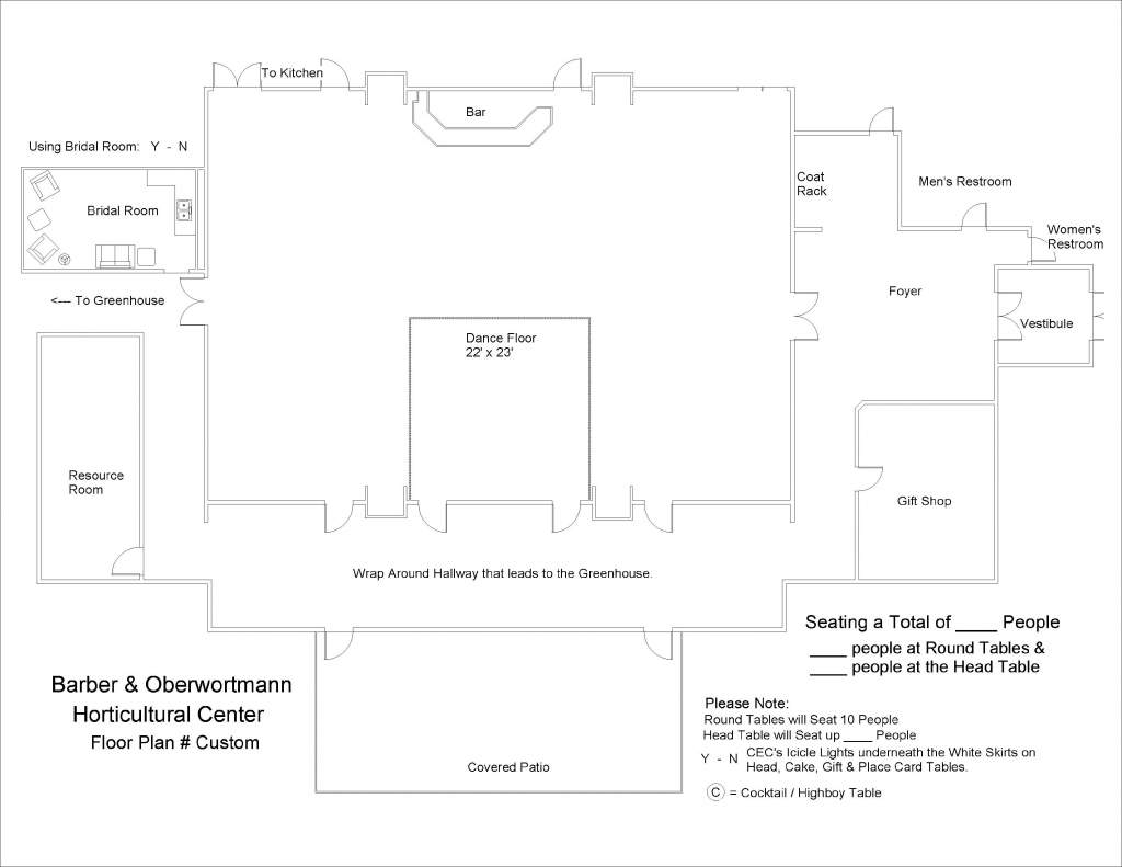 Barber & Oberwortmann Horticultural Center Floor Plan Custom